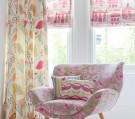 Charles Parsons Pink Patterned Soft Roman Blinds