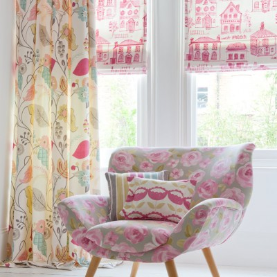 Charles Parsons Soft Roman Blinds Folia Curtain Fabric