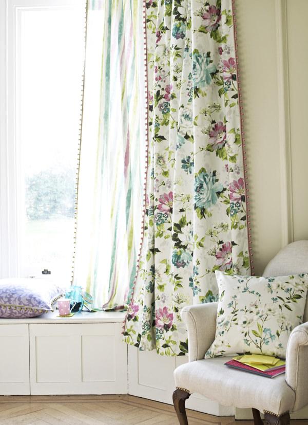 Charles Parsons Italian Gardens Curtain Fabric
