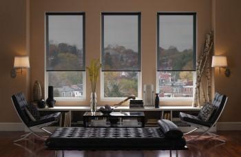 Commercial Blinds and Curtains Mermet Vela Met Sunscreen Roller Blinds