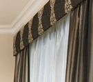 Pelmet and block out curtains and sheer curtains