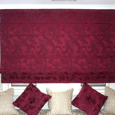 Red Soft Roman Blinds installed by Abbey Blinds & Curtains