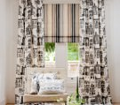 Striped Soft Roman Blinds