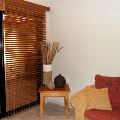 Cedar Venetian Wooden Blinds - Light to Medium Tone
