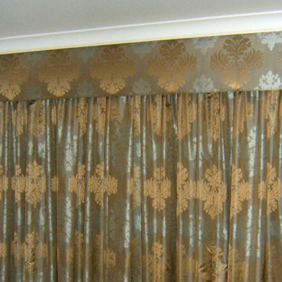Padded Pelmet with Block Out Drapes