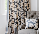 Floral Block Out Curtains